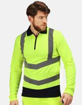 Pro Hi-Vis Long Sleeve Polo Shirt